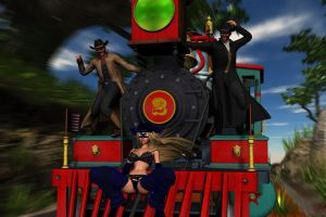 HEROINES IN PERIL: RAILROADED by lordcoyote