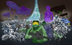 Halo wallpaper speed painting by leaks4you