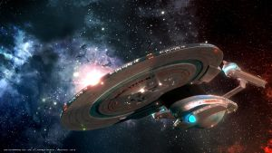 Ode to USS Enterprise NCC 1701 B - 3 by Mechinus