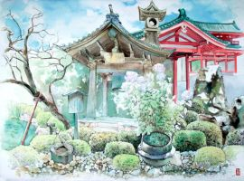 Temples and Gardens by Jube-Squared