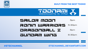 My Toonami Lineup by ETSChannel