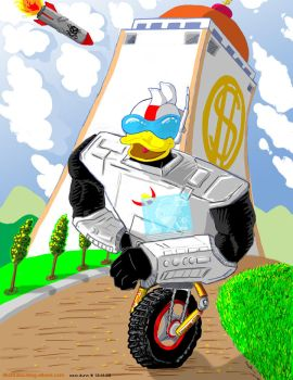 Watch out Gizmoduck by iballoon