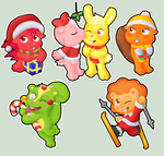 HTF christmas stickers by Gothicraft