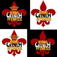King Crunch Fitness Logo by buckeyo