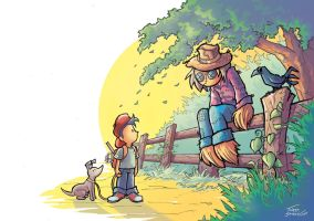 Tim and the Scarecrow by thiagospyked