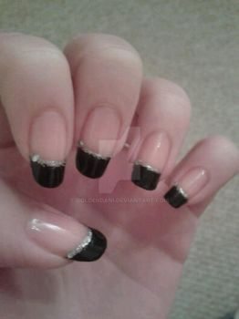 Black French Tips by GoldenDani