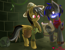 Leading Daring Do to Tartarus Commission by ladypixelheart