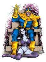 Thanos and Lady Death by gregbo