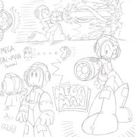 Mega Man Sketches... AGAIN! by FritzyBeat