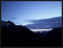 Routeburn Falls Hut View by Macomona