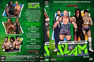 WWE Saturday Morning Slam April 2013 DVD Cover by Chirantha
