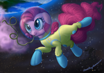 Pinkie *dramatic voice* IN SPAAAACE by DeathPwny