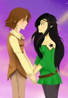 Eragon and Arya: Loving Gaze by Melody-in-the-Air