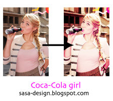 Coca-Cola girl actions by sasa-92