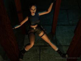 Tomb Raider Classic: Hiding Above In Darkness by Irishhips