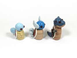 Wobbles: Squirtle Evolution by okapirose
