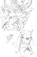 Shadow the Hedgehog -studies- by Lady-Valiant