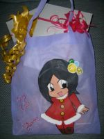 xmas bag gifts by zoesaday