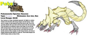 PokeMonster Hunter - Haxorus, the Axe Jaw! by Aonon