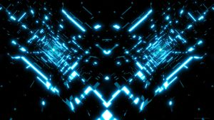 Tron Tunnels Wallpaper by Dr-Pen