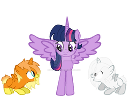 ''Tell us a story, Twilight!'' [gif] by inside-our-mind