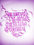 Calligraphy by Ciillk