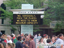 Funny Signs - Pack the Place by AngusMcTavish