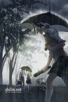 Umbrella - sketch for Patreon by shilin
