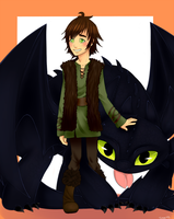 .HTTYD: Hiccup and Toothless. by Kikuri-Tan