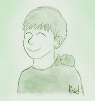 Sketch - Navi sitting on shoulder by The-Bryce-Is-Right