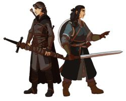 Boromir and Aragorn by fUnKyToEs