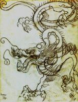 SCROLL OF THE JAPANESE DRAGON by PIMI1023