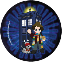 4th Doctor Button by Soseiru