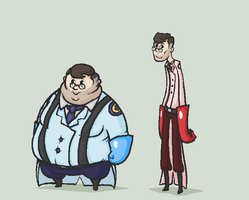 Thick and thin medics by GasMaskMonster