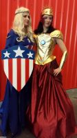 NYCC 2013: Fem Cap and Iron Womaness by Kitedot
