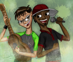 Jed and Glenn: The Music Bros by Josabella
