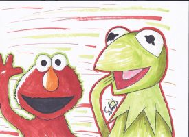 Copic Muppets by StamayoStudio
