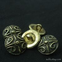 Bronze Anglo-Saxon buttons by Sulislaw
