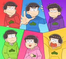 Six Same Faces by GonkhNation