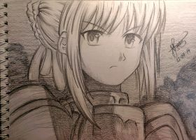Saber from Fate/Stay series! (Request: dropit141) by AnimangaHolic