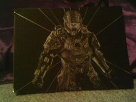 Master Chief Scratchboard by Hicaraisha
