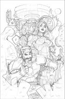 Guardians of the Galaxy #1 Variant Pencils by TerryDodson