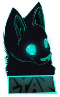 Cyan Badge by RadioactiveBirds