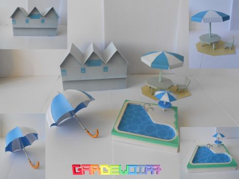 Release : Beach Pack Papercraft by gardevoir7