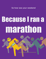 Marathon Poster by TheAmazingNoodle
