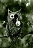 Zombie Owl by whispofcloud