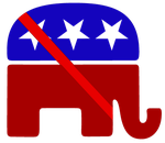 Anti-Republican party US Stamp by kiarasimba