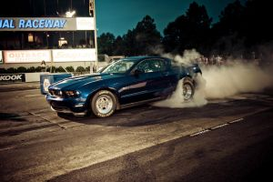 Mustang GT Drag Burnout by TheCarloos