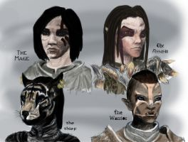 Dovahkiin Group Portrait by Nighthawk42