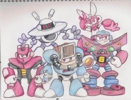 Top 5 Robot Masters by Marioshi64